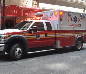 """The mayor of New York City defended the FDNY EMT pay gap, saying he thinks the """"work is different"""" than that of firefighters and police officers. (Photo/Flickr)"""