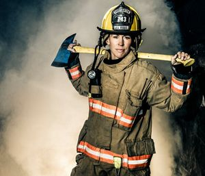 There are 1.16 million firefighters in the United States, but only 7 percent are women. (Photo/University of St. Thomas)