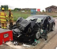 Report: Autopilot Tesla sped up without warning in fire truck crash