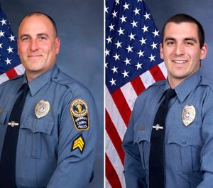 Sgt. Michael Bongiovanni, left, and Officer Robert McDonald were fired from the Gwinnett County Police Department in Georgia. (Photo/Gwinnett County Police Department, via Associated Press)
