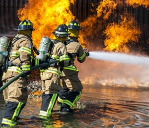 Contributing, satisfied and well-managed volunteer firefighters will remain active longer. (Photo/USAF)