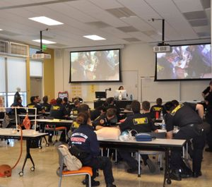 The main purpose of a flipped classroom is to improve student application and evaluation of conceptual knowledge instead of merely focusing on student recall. (Photo/USAF)