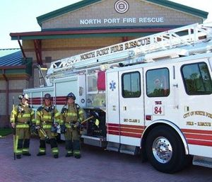 A federal grant will allow North Port Fire Rescue to hire more first responders to serve their growing community. (Photo/City of North Port)