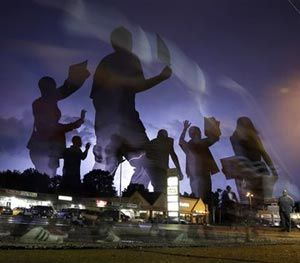 It's a reasonable contention that if he had been wearing a body camera — and that video was examined by agency leadership and released responsibly to the public — Ferguson would probably have been spared the violence and unrest. (AP Image)