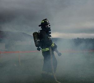 Firefighters are more likely than the general population to experience occupational stress, to think about or act on suicidal thoughts and to have an alcohol use disorder. (Photo/USAF)