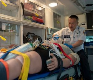 While it is critical to assign one EMS crew member the full-time duty of monitoring the patient's airway and breathing status, it is also important that the entire crew works together to support that role. (Photo/USAF)