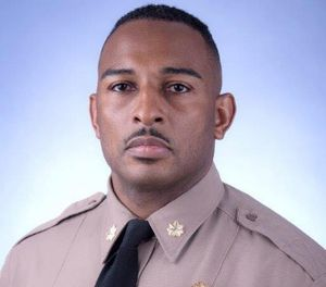Maj. Ricky Carter was injured after crashing into a guardrail on a highway. (Photo/Miami-Dade PD)