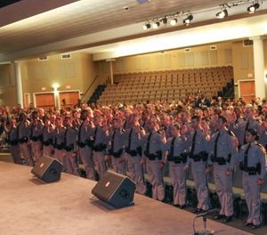 Newest troopers at their swearing in ceremony. (Photo/FHP Facebook)