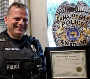 Police Chief Bryan MacFadden said he'll be out of work for at least three weeks. (Photo/Canajoharie Police Facebook)