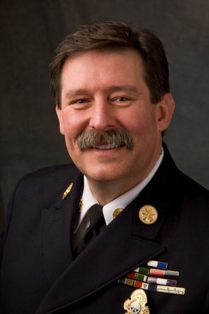 "Curt Varone – attorney at law, deputy chief with the Exeter, Rhode Island, and deputy assistant chief with  Providence, Rhode Island (Ret.) – presented ""10 High-Risk Policy Areas in the Fire Service"" at FDIC 2019. (Photo courtesy http://www.firelawblog.com/)"