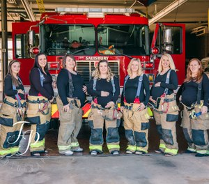 Photographer Brianna Mitschele posted on her webpage that the wives of seven firefighters with the Salisbury Fire Department are expecting between now and September. (Photo/Brianna Mitschele)