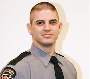 Cpl. Bryon Dickson II was killed after being shot from the woods near the Blooming Grove state police barracks in September 2014. (Photo/Pennsylvania State Police)