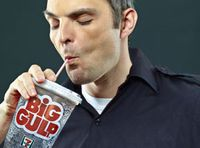 Partner unsure how long EMT plans to drink from Big Gulp cup in cab