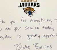 NFL player thanks Fla. shooting responders with dinner after 'long couple of days'