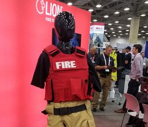 A ballistic vest is displayed at the 2018 FRI conference. (Photo/Shelbie Watts)