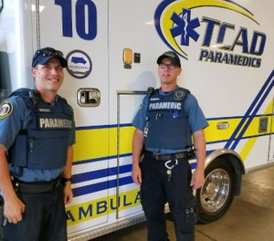 Paramedic crews are not required, but are encouraged, to wear the gear on every call. (Photo/TCAD Paramedics)