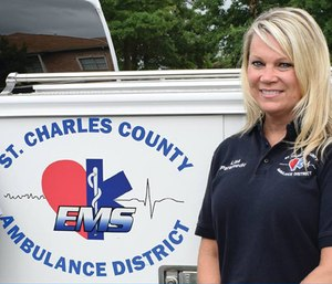 Lisa Cassidy was named Paramedic of the Year by the Missouri Emergency Medical Services Association. (Photo/St. Charles County Ambulance District)