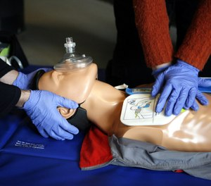 Direct communications, leadership and crew resource management are all essential components within a cardiac arrest resuscitation, and there's no exception during the deployment of your mechanical compression device. (Photo/Wikimedia Commons)