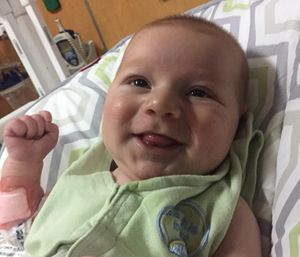 Caden was born on Nov. 13 with hypoplastic left heart syndrome. (Photo/Facebook)