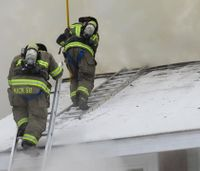 NY firefighter recovering after falling from apartment roof