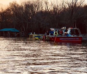 Search crews are utilizing underwater sonar, drones and helicopters to look for Nashville Fire Department firefighter-EMT Jesse Reed. (Photo/Humphreys County Sheriff's Office)