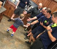 Firefighters throw 3-year-old birthday party after guests cancel