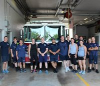 Ind. firefighters hold fitness class for the public
