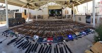 Authorities seize more than 500 firearms from felon's home