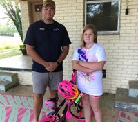 LEO gifts new bike to girl who had hers stolen