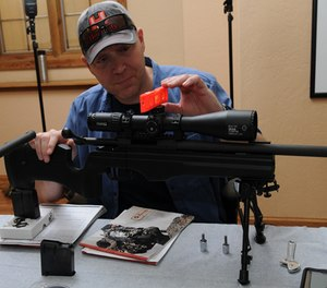 Curtis is mounting the scope using Steiner's T-Series Rings. (Image Steiner)