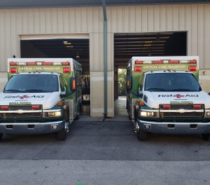 First 2 Aid EMS, based in Osceola County, will initially bring 28 employees and three ambulances to the area — with plans to soon provide air ambulance service. (Photo/First 2 Aid EMS)