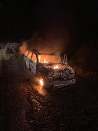 Rescue operation riddled with mishaps including falling tree, burning car