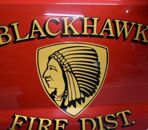 "Fire Chief John Trail said Brandon Cox joined the Blackhawk department in November and was ""terminated immediately upon our notification that he was a suspect in the investigation."" (Photo/Blackhawk Fire Protection District Facebook)"