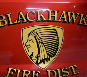 """Fire Chief John Trail said Brandon Cox joined the Blackhawk department in November and was """"terminated immediately upon our notification that he was a suspect in the investigation."""" (Photo/Blackhawk Fire Protection District Facebook)"""