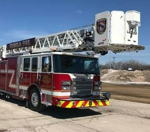 The truck drove all the way to Bemidji from Appleton, Wis., a trek of nearly 500 miles. (Photo/Bemidji Fire Department)