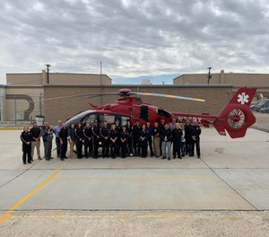 The new base will work closely with American Medical Response of San Bernardino County and will also operate alongside the company's first Victorville location run in partnership with the San Bernardino County Fire Department. (Photo/REACH Air Medical Services)