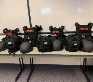 Fire departments are increasingly equipping themselves with ballistics gear so they can go into those warm zones, along with law enforcement, and provide swift and critical care. (Photo/Falmouth Fire/Rescue)