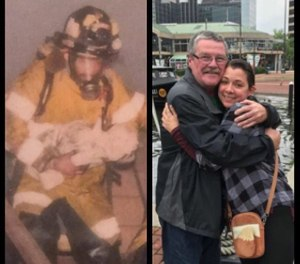 """""""It was amazing ... it was an unbelievable experience to get to talk to her about it,"""" Sullivan said. """"It felt great talking to her, I've never had a feeling that before in my life."""" (Photo/Friends of Quincy Firefighters IAFF, Local 792)"""