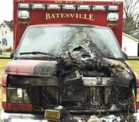 Officer, 4 firefighters suffer smoke inhalation in ambulance fire