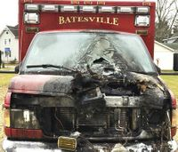 4 firefighters, cop suffer smoke inhalation in ambulance fire