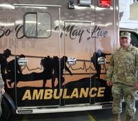 Okla. EMS honors veterans with new ambulance