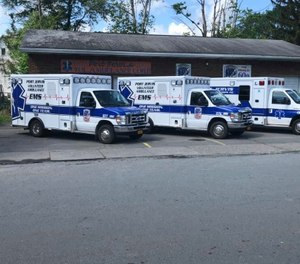 The ambulance was responding to a call for service when it struck McKeon on its way out of the building, Worden said. (Photo/ Port Jervis Ambulance Corps)