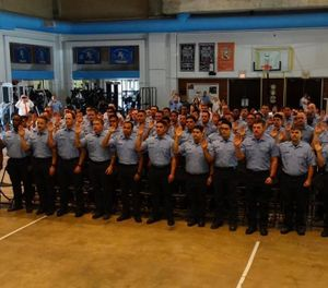 Houston FD held a swearing in ceremony for 66 new fire cadets on Thursday, May 16, 2019. (Photo/HFD)