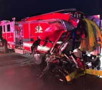 1 dead after vehicle crash involving Calif. fire truck