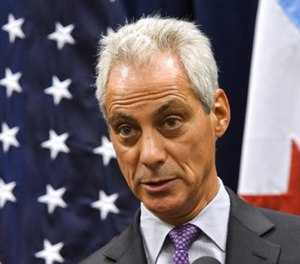 In this Jan. 15, 2017, file photo Chicago Mayor Rahm Emanuel speaks during a news conference in Chicago. Chicago will keep fighting President Donald Trump's immigration policies with a federal lawsuit alleging it's illegal for the federal government to withhold public safety grants from so-called sanctuary cities, Emanuel announced Sunday, Aug. 6. (AP Photo/Matt Marton, File)