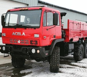 General Truck Body will introduce a highly-modified Acela Monterra 6x6 High Water/Flood Rescue Truck at the 2019 Fire Department Instructor's Conference trade show April 8-13 in Indianapolis, booth #9249. (Photo/General Truck Body)