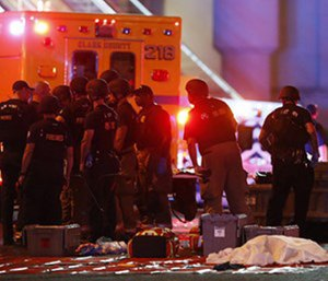 Within 20 minutes of last year's mass shooting in Las Vegas, doctors and nurses at Sunrise Hospital's emergency room knew what horror was unfolding at the Route 91 Harvest Festival. (Photo/AP)