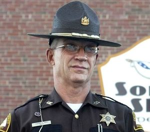 This 2007 photo shows Somerset County Cpl. Sheriff Eugene Cole , who was killed early Wednesday, April 25, 2018, in Norridgewock, Maine. (Jeff Pouland/The Central Maine Morning Sentinel via AP)