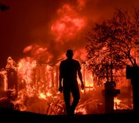 Police video from Calif. wildfires shows harrowing escapes