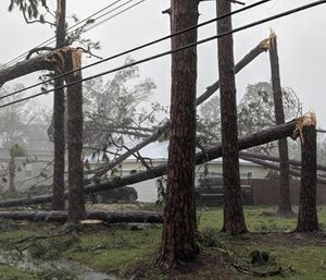 After carving an agonizing path of destruction across the Florida Panhandle, Georgia and southeastern Alabama for nearly 10 hours and killing at least two people, Hurricane Michael finally slowed to a tropical storm at midnight and continued to weaken early Thursday. (Photo/AP)